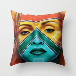 Samnation14-03, Inspired by Madonna Throw Pillow
