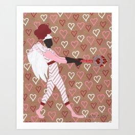 Battle Cupid:Mace Art Print