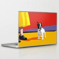 terrier Laptop & iPad Skins featuring Boston terrier by Matt Mawson