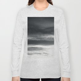 BLACK & WHITE TOUCHING #2 #abstract #decor #art #society6 Long Sleeve T-shirt