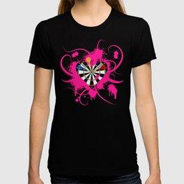 Dartboard Romance T-shirt