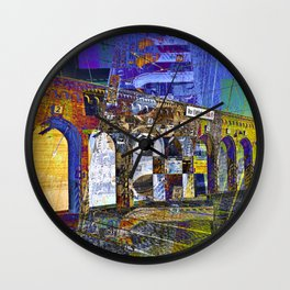 City Facade of Berlin Wall Clock