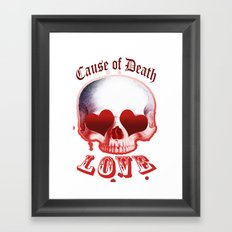 sweet death by love Framed Art Print