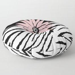 ZEBRA ANIMAL PRINT PINK WHITE BLACK 2020 Floor Pillow