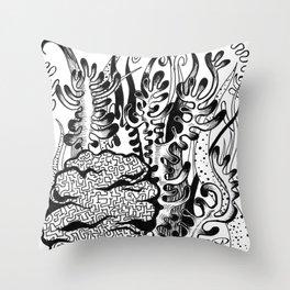 coral corral Throw Pillow