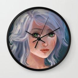 Ciri, portrait Wall Clock