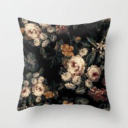 Midnight Garden XIV Throw Pillow