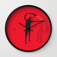mouth Wall Clocks featuring Mouth by Fupete Art