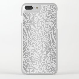 Celtic Warlord silver Clear iPhone Case