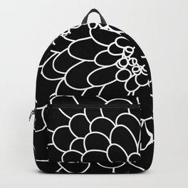 Black Chrysanth Backpack