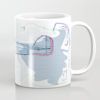 underwater Mugs featuring Underwater by March Hunger