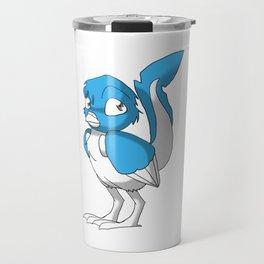Light Blue/Color-Or-Paint-Your-Own Reptilian Bird #ArtofGaneneK #Animal Travel Mug