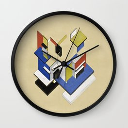 Theo van Doesburg - Contra-Construction Project (Axonometric) - Abstract De Stijl Painting Wall Clock
