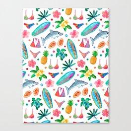 Dotty Summer Beach Pattern Canvas Print