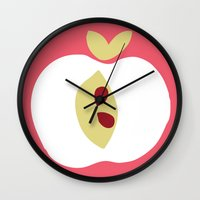 apple Wall Clocks featuring apple by ottomanbrim
