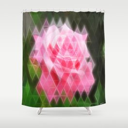 Pink Roses in Anzures 4 Art Triangles 2 Shower Curtain