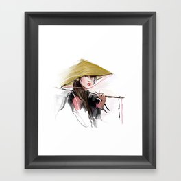 Vietnamese girl Framed Art Print