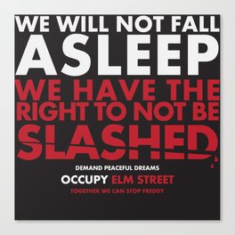 occupy elmstreet Canvas Print