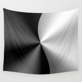 Black & Silver Metallic Geometric Design Wall Tapestry