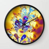 fireworks Wall Clocks featuring Fireworks by LLMD