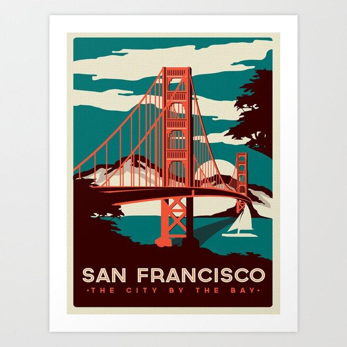Vintage poster - San Francisco Kunstdrucke