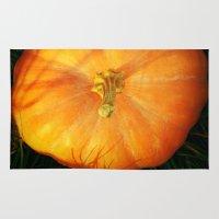 pumpkin Area & Throw Rugs featuring Pumpkin ^_^ by Julia Kovtunyak