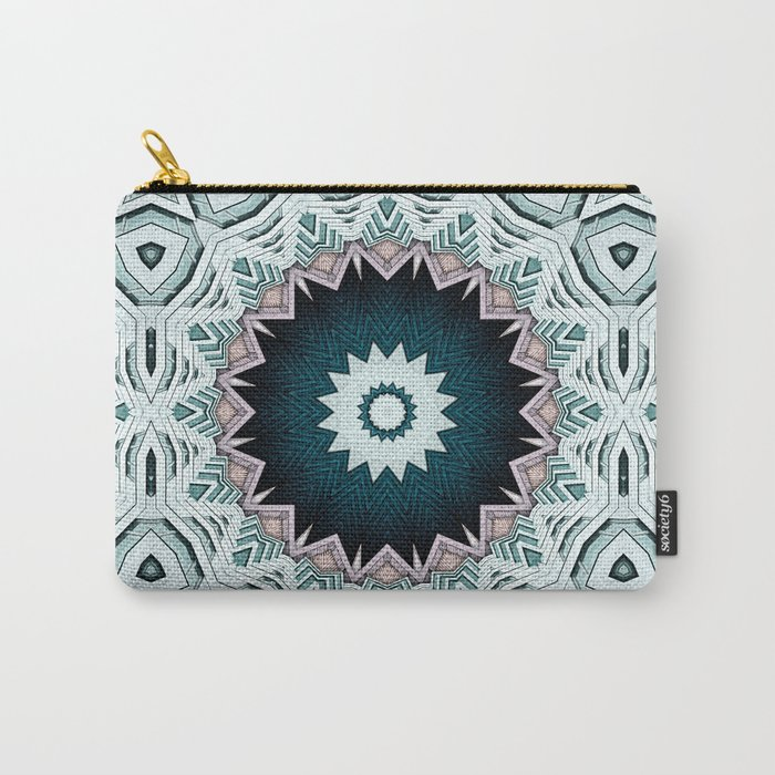 Blue Green Buildings Mandala Carry-All Pouch