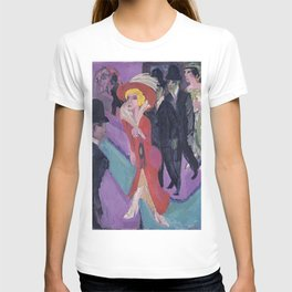 Ernst Ludwig Kirchner - Street With Red Streetwalker T-shirt