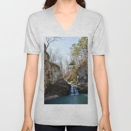 Alone in Secret Hollow with the Caves, Cascades, and Critters, No. 17 of 21 Unisex V-Neck