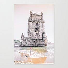 Belem Tower girl Canvas Print