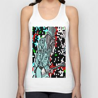 heavy metal Tank Tops featuring Abstract Heavy Metal Rocks by Saundra Myles