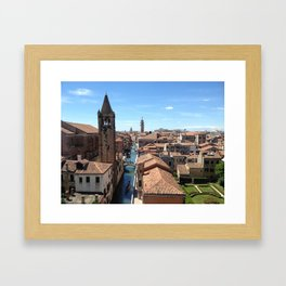Venice Canal from Above Framed Art Print