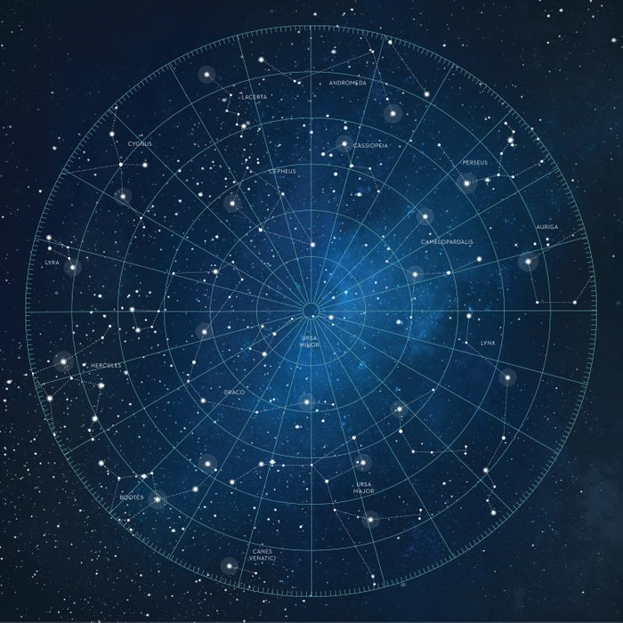 Constellation Star Chart Duvet Cover by earthmoonstarsstudio | Society6