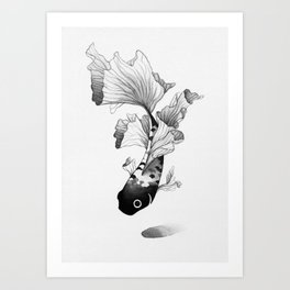 Betta Fish Art Print