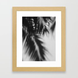 palm shadow  Framed Art Print