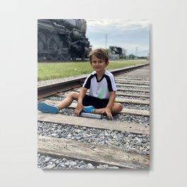 train tracks boy Metal Print