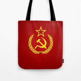 Hammer and Sickle Textured Flag Tote Bag