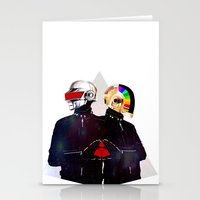 daft punk Stationery Cards featuring Daft Punk by omurizer