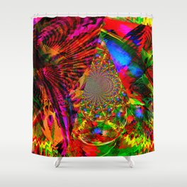 Psychedelic Kites From Another Dimension Shower Curtain