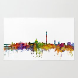 Washington DC Skyline Rug