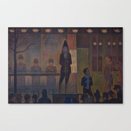 Georges Seurat  -  Circus Sideshow Canvas Print