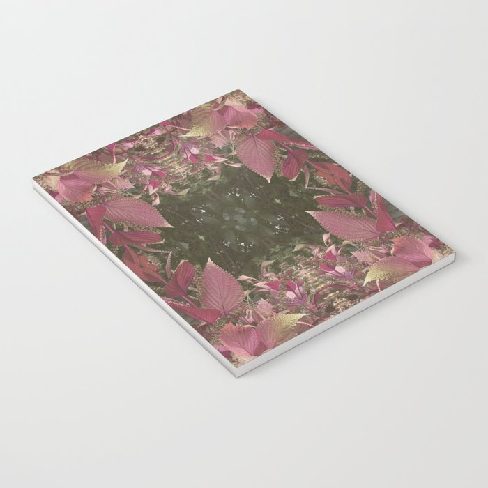 Red Shiso Warm Tones Pattern Notebook