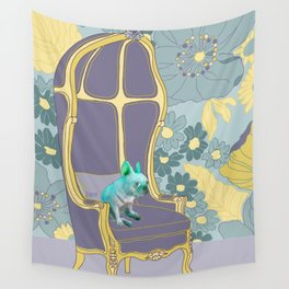 Dog in a chair #4 French Bulldog Wall Tapestry