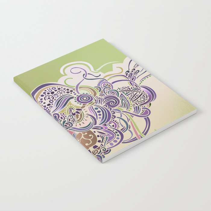 Detailed diagonal tangle Notebook