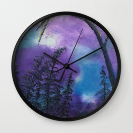 Blissful forest Wall Clock