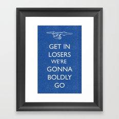 Boldly go Framed Art Print
