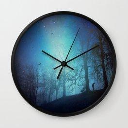 Bluer than Midnight Wall Clock