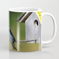 swallow Mugs featuring Barn Swallow by Debbie Maike Photography