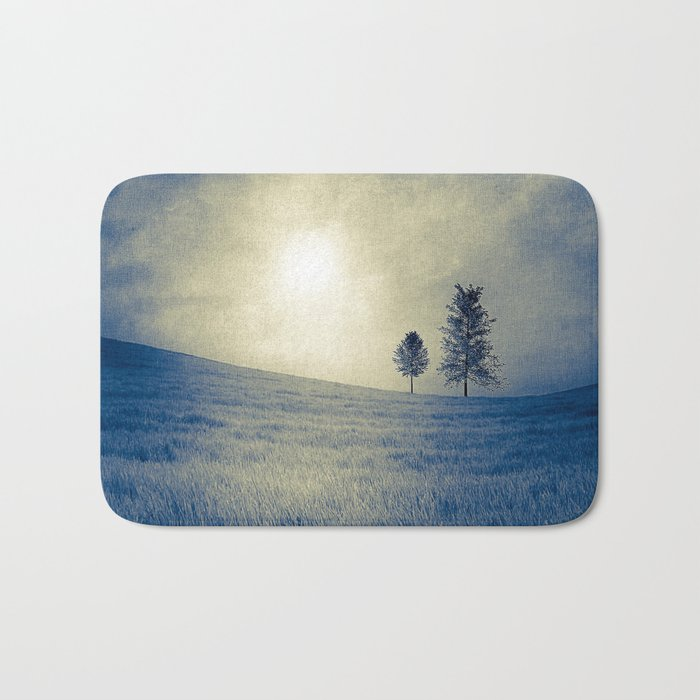 Blue field Bath Mat