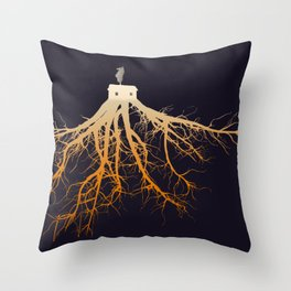 The Roots of Your Cabin Throw Pillow